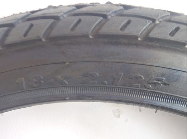 BICYCLE TYRE 18 X 2.125 can be replaced by 18 x 250-276