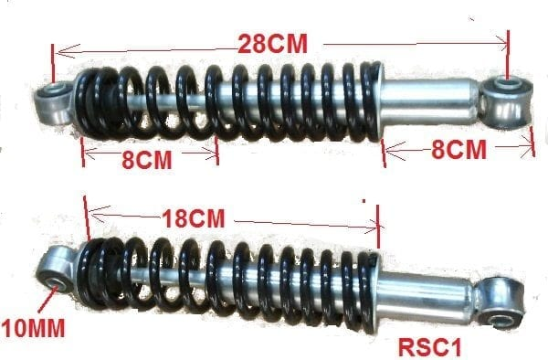 SPRINGS REAR SUSPENSION COLT I , II, III PAIR-522