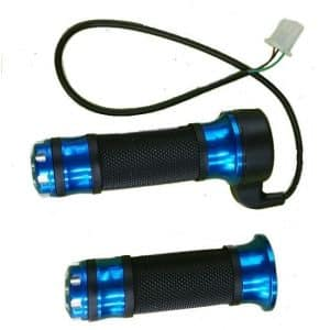 BLUE ANODISED ELECTRIC BICYCLE & ELECTRIC SCOOTER TWIST GRIP STYLE THROTTLE HANDLE -0