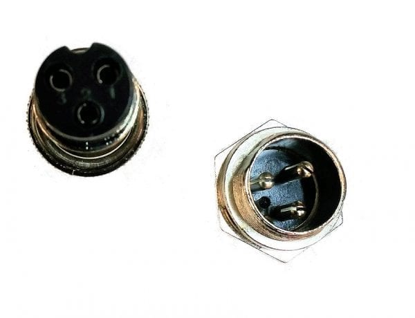 Plug: 3-Pin GX16; M and F set-1058