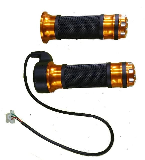 GOLD ANODISED ELECTRIC BICYCLE & ELECTRIC SCOOTER TWIST GRIP STYLE THROTTLE HANDLE -0