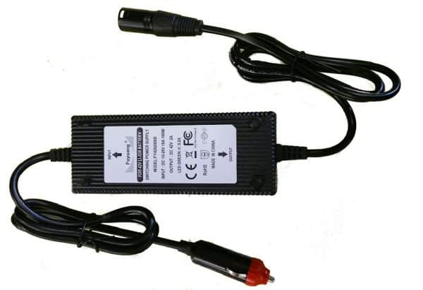 Battery Charger 12v input to 36 volt Lithiumn travel charger -1412
