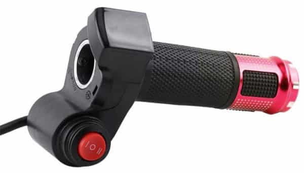 (Red) Throttle Handle with Switch and LED Display for Electric Bicycle and Electric Scooter-1439