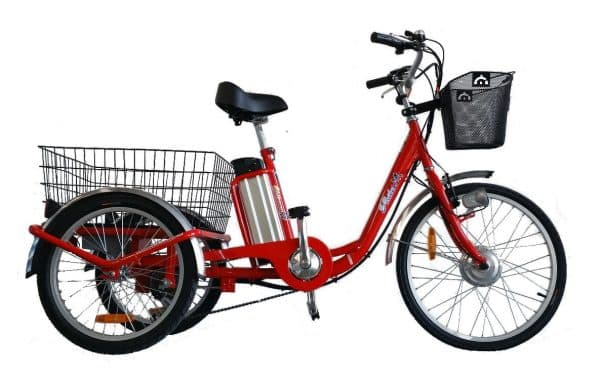 E-TRIKE LI 24/20 ADULT ELECTRIC TRICYCLE ELECTRIC 3 WHEELED BIKE RED-0