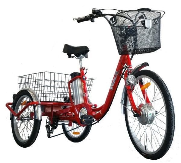E-TRIKE LI 24/20 ADULT ELECTRIC TRICYCLE ELECTRIC 3 WHEELED BIKE RED-1611