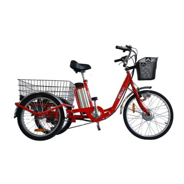 E-TRIKE LI 24/20 ADULT ELECTRIC TRICYCLE ELECTRIC 3 WHEELED BIKE RED