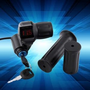TWIST half Throttle Handle with 12 to 80 volt digital Display and key lock for Electric Bicycle and Electric Scooter-0