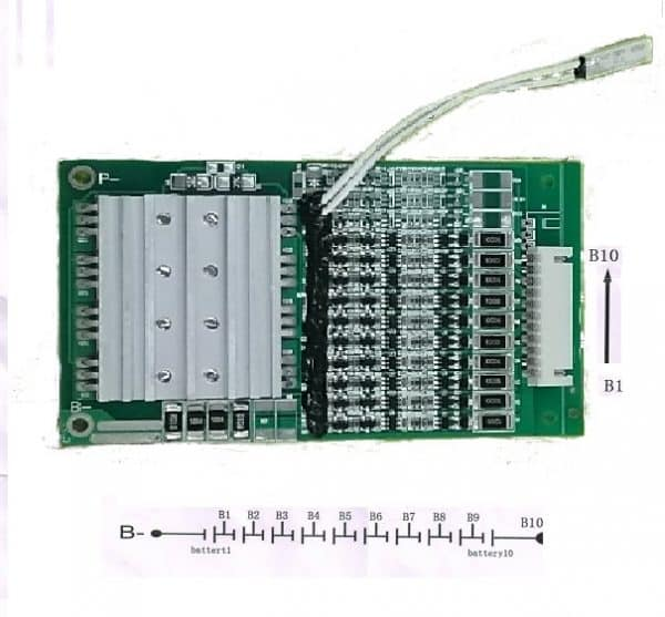 Battery Management system 10S 36V 20amp bms pcb LWS-13S15A-051 (10S)-1648