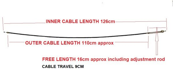 BRAKE CABLE FRONT KRUZE TREKKER measurement